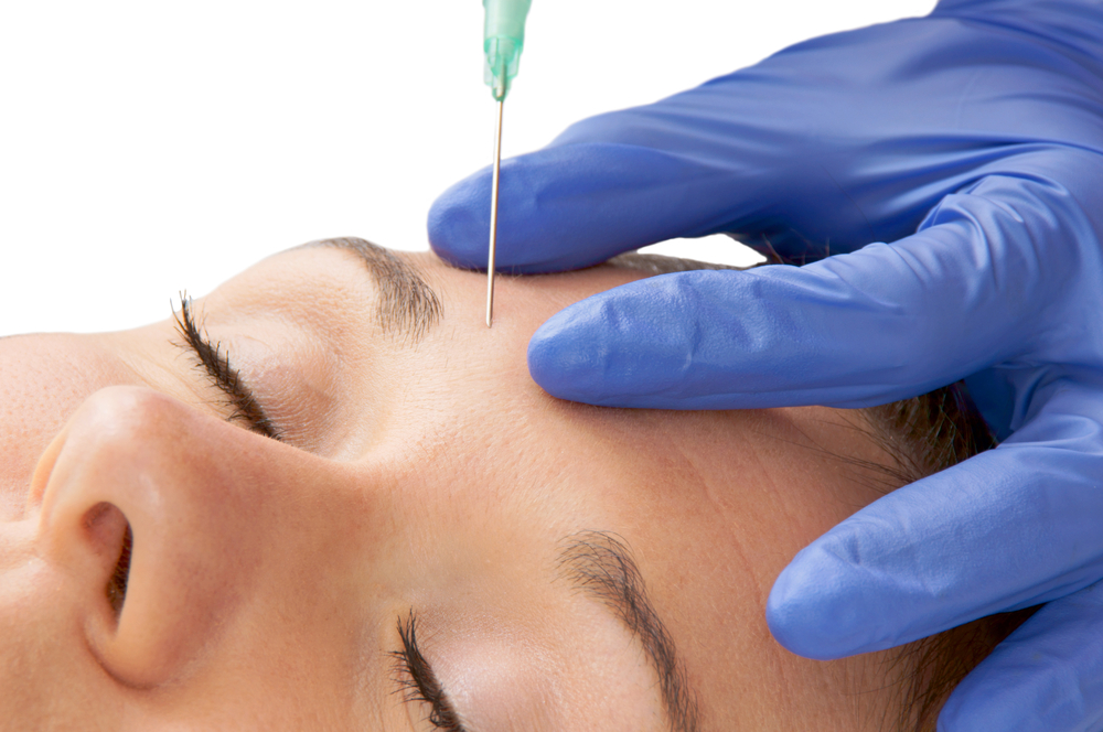 woman receiving filler treatment for wrinkles