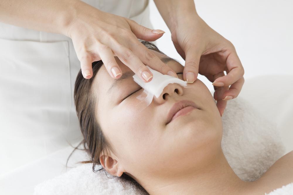 Lady receiving nose surgery procedure